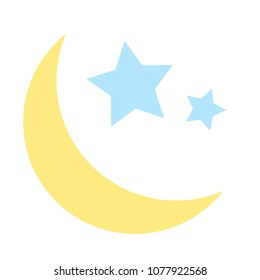 sleep icon, night moon, sleeping symbol