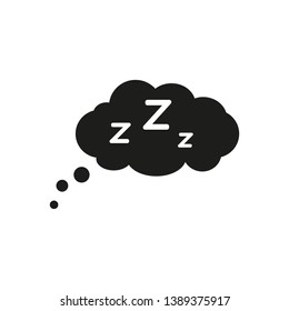 Sleep icon. Sleeping bubble icon with letter Z. Vector. Isolated.
