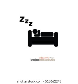Sleep icon.vector illustration.