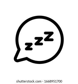 Sleep icon,vector illustration. Flat design style. vector sleep icon illustration isolated on White background, sleep icon Eps10. sleep icons graphic design vector symbols.