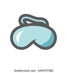 Sleep Mask blindfold Vector icon Cartoon illustration