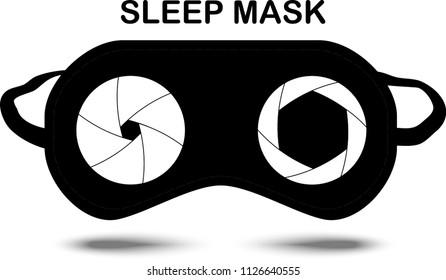 Sleep Mask with eyes. Vector Illustration