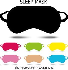 Sleep mask. Vector illustration
