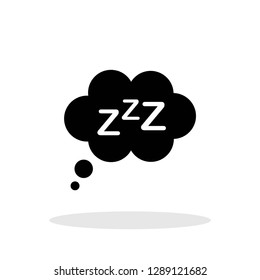 Sleep  Rest icon in flat style. Sleep symbol for your web site design, logo, app, UI Vector EPS 10.