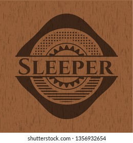 Sleeper retro wood emblem
