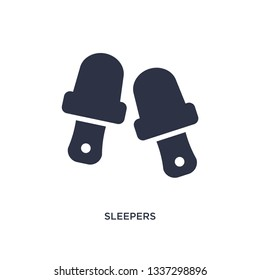 sleepers isolated icon. Simple element illustration from clothes concept. sleepers editable logo symbol design on white background. Can be use for web and mobile.