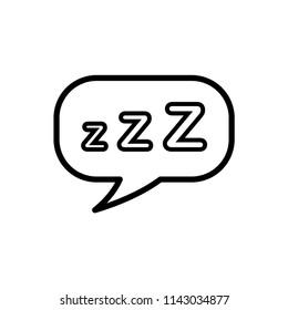 sleepiing night, dream icon vector
