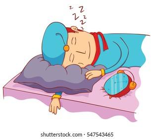 sleeping with alarm clock