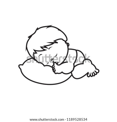 Sleeping Baby Icon Stock Vector Royalty Free 1189528534 Shutterstock