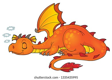 Sleeping dragon theme image 1 - eps10 vector illustration.