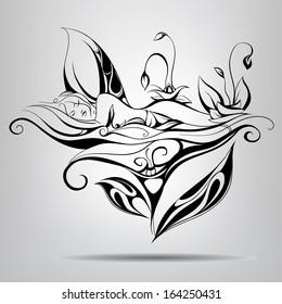 Sleeping fairy. Vector illustration