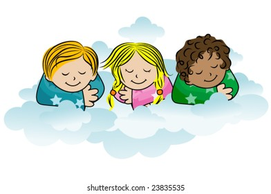Sleeping Kids - Vector