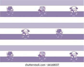 Sleeping Kitten, Puppy, Teddy Pattern Three Color