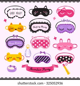 Sleeping Mask Vector Design illustration