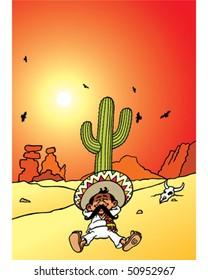 Sleeping Mexican - Cactus