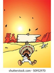 Sleeping Mexican - Sign