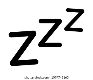 Sleeping, zzz or slumber vector icon for sleep apps and websites