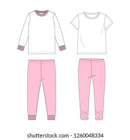 Sleepwear for girl. Vector illustration.