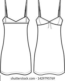 sleepwear vector isolated template illustration