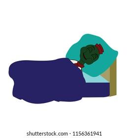 sleepy cartoon tortoise