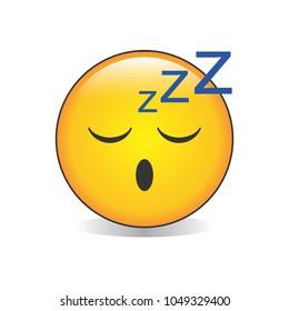 Sleepy Face Emoji Vector