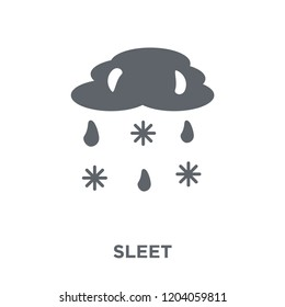 Sleet icon. Sleet design concept from Weather collection. Simple element vector illustration on white background.