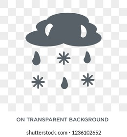 Sleet icon. Sleet design concept from Weather collection. Simple element vector illustration on transparent background.