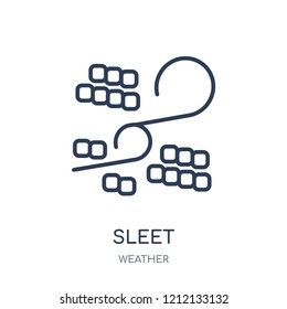 Sleet icon. Sleet linear symbol design from Weather collection. Simple outline element vector illustration on white background.
