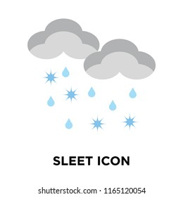 Sleet icon vector isolated on white background, Sleet transparent sign , weather symbols