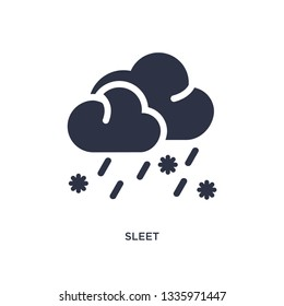 sleet isolated icon. Simple element illustration from weather concept. sleet editable logo symbol design on white background. Can be use for web and mobile.