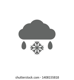 Sleet, snow, cloud icon. Element of weather sign icon