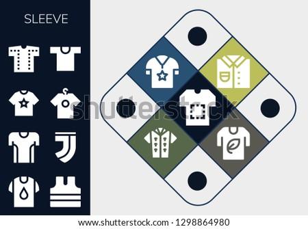 sleeve icon set 13