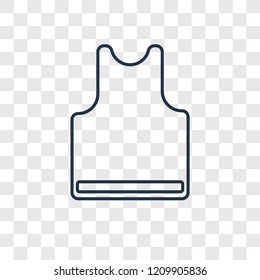 Sleeveless concept vector linear icon isolated on transparent background, Sleeveless concept transparency concept in outline style