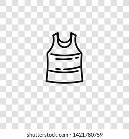 sleeveless icon from  collection for mobile concept and web apps icon. Transparent outline, thin line sleeveless icon for website design and mobile, app development