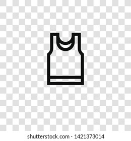 Sleeveless icon from fashion collection for mobile concept and web apps icon. Transparent outline, thin line Sleeveless icon for website design and mobile, app development