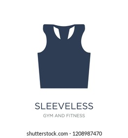Sleeveless icon. Trendy flat vector Sleeveless icon on white background from Gym and fitness collection, vector illustration can be use for web and mobile, eps10