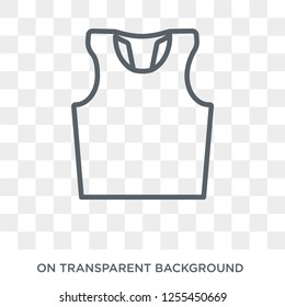 Sleeveless icon. Trendy flat vector Sleeveless icon on transparent background from Gym and fitness collection. High quality filled Sleeveless symbol use for web and mobile