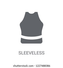 Sleeveless icon. Trendy Sleeveless logo concept on white background from Gym and Fitness collection. Suitable for use on web apps, mobile apps and print media.