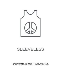 Sleeveless linear icon. Sleeveless concept stroke symbol design. Thin graphic elements vector illustration, outline pattern on a white background, eps 10.