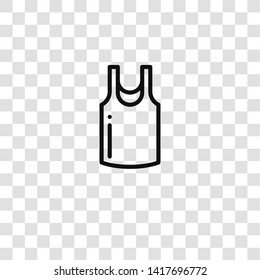 sleeveless shirt icon from clothes collection for mobile concept and web apps icon. Transparent outline, thin line sleeveless shirt icon for website design and mobile, app development