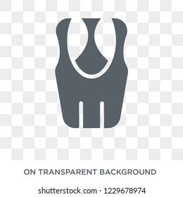 Sleeveless Shirt icon. Sleeveless Shirt design concept from Clothes collection. Simple element vector illustration on transparent background.