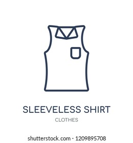Sleeveless Shirt icon. Sleeveless Shirt linear symbol design from Clothes collection. Simple outline element vector illustration on white background.