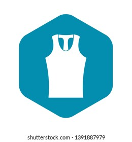 Sleeveless shirt icon. Simple illustration of sleeveless shirt vector icon for web