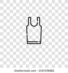 sleeveless shirt icon from summer clothing collection for mobile concept and web apps icon. Transparent outline, thin line sleeveless shirt icon for website design and mobile, app development