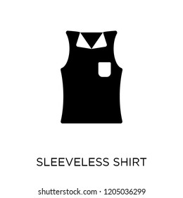 Sleeveless Shirt icon. Sleeveless Shirt symbol design from Clothes collection. Simple element vector illustration on white background.