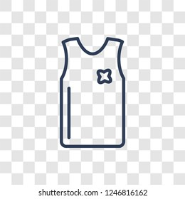 Sleeveless Shirt icon. Trendy linear Sleeveless Shirt logo concept on transparent background from Clothes collection