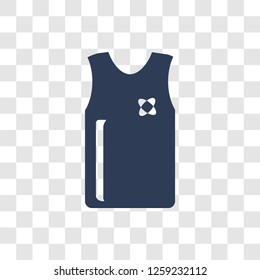 Sleeveless Shirt icon. Trendy Sleeveless Shirt logo concept on transparent background from Clothes collection