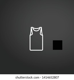 Sleeveless vector icon. Sleeveless concept stroke symbol design. Thin graphic elements vector illustration, outline pattern for your web site design, logo, UI. EPS 10.