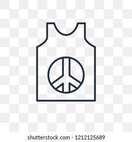 Sleeveless vector outline icon isolated on transparent background, high quality linear Sleeveless transparency concept can be used web and mobile
