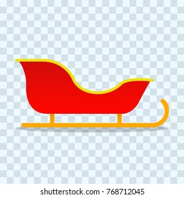 Sleigh, icon. Vector illustration